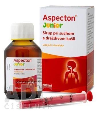 Aspecton Junior sirup pri suchom a dráždivom kašli