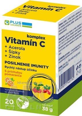 PLUS LEKÁREŇ Komplex vitamín C+acerola+šípky+zinok